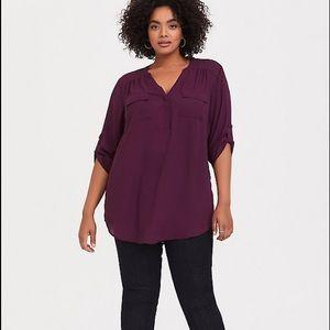 Torrid Harper Burgundy Purple Tunic Size 5